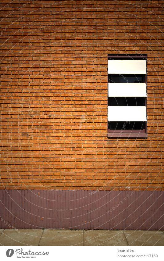 atitas Wand Fenster Stein Mauer Tapete Bürgersteig Fuge Wetterschutz Lamelle