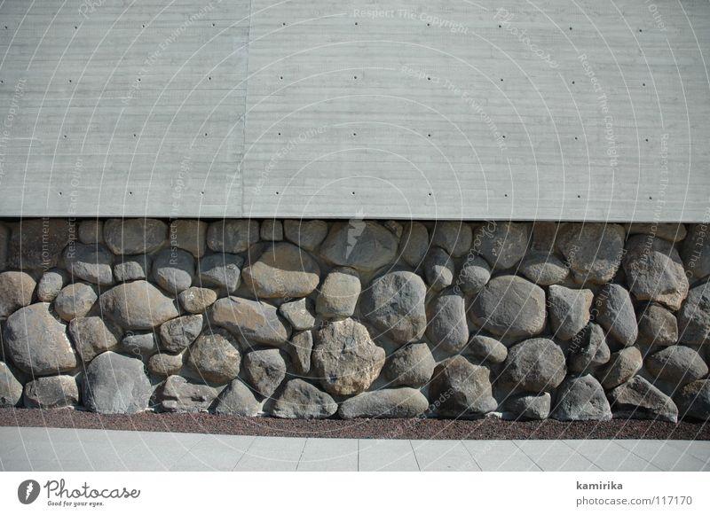 stony thing Fundament Fassade Wand Mauer Beton Tapete Skulptur Silhouette massiv modern concrete foundation wallpaper Strukturen & Formen sculpture Profil tief