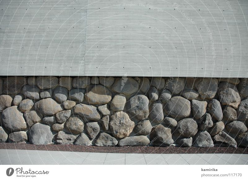 stony thing Wand Stein Mauer Beton Fassade modern Tapete tief Skulptur massiv Bunker Fundament