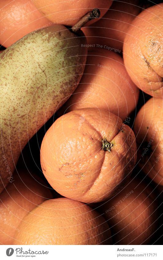 Obstkorb Orange Gesundheit Frucht süß Vitamin Birne Vegetarische Ernährung Orangenhaut Vitamin C