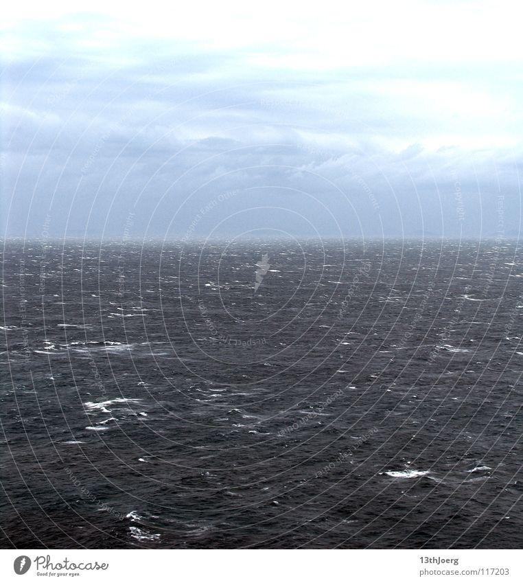 ImmerMeer Wasser Ferien & Urlaub & Reisen ruhig Wolken Einsamkeit Ferne Erholung Herbst Wellen Hintergrundbild Wind Wetter Horizont Klima Italien