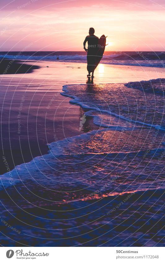 surfers paradise Mensch Natur Ferien & Urlaub & Reisen Jugendliche Mann Sommer Wasser Sonne Meer Freude 18-30 Jahre Ferne Strand Erwachsene Stil Freiheit