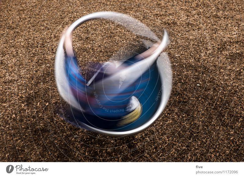Turn II Freizeit & Hobby Spielen Mensch maskulin Kind Kindheit Jugendliche 1 3-8 Jahre Spielplatz drehen Bewegung Geschwindigkeit Langzeitbelichtung Farbfoto
