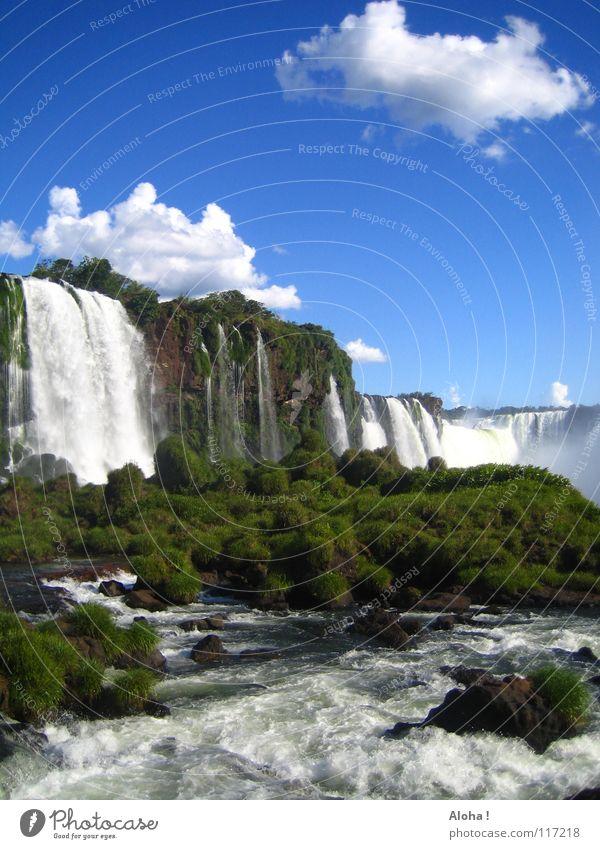 Geht jemand mit? VI Strömung Berghang Brasilien Argentinien Kunst Wassermassen Pflanze Gewässer Tourismus Baum Wolken Horizont Wassertropfen Tourist Gischt