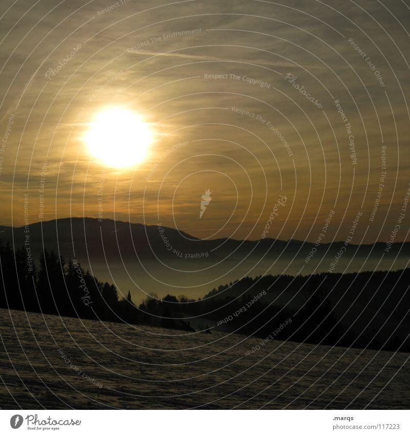 Bis morgen Himmel Baum Sonne Winter Wolken Wald dunkel Herbst Berge u. Gebirge Nebel Aussicht Hügel Jahreszeiten Baumkrone Decke Schwarzwald