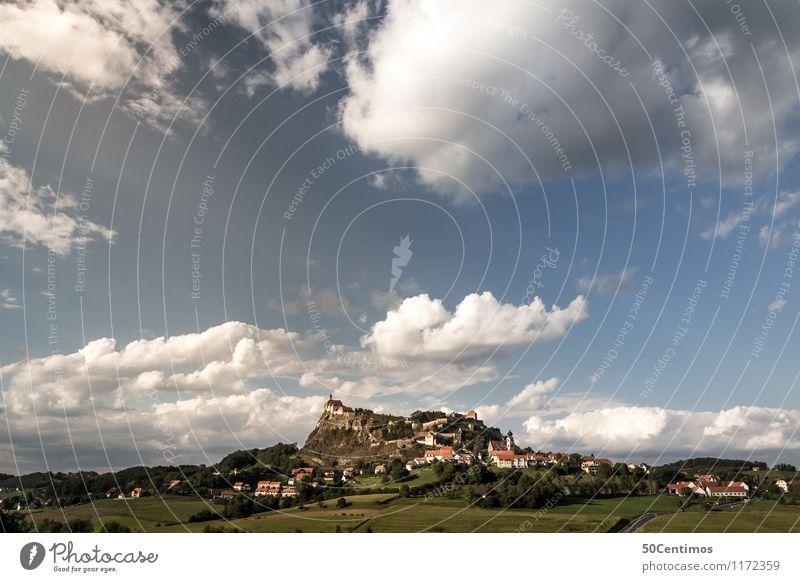 Die Riegersburg der Steiermark Himmel Natur Ferien & Urlaub & Reisen Sommer Erholung Landschaft ruhig Wolken Freiheit Horizont Tourismus genießen Ausflug Klima