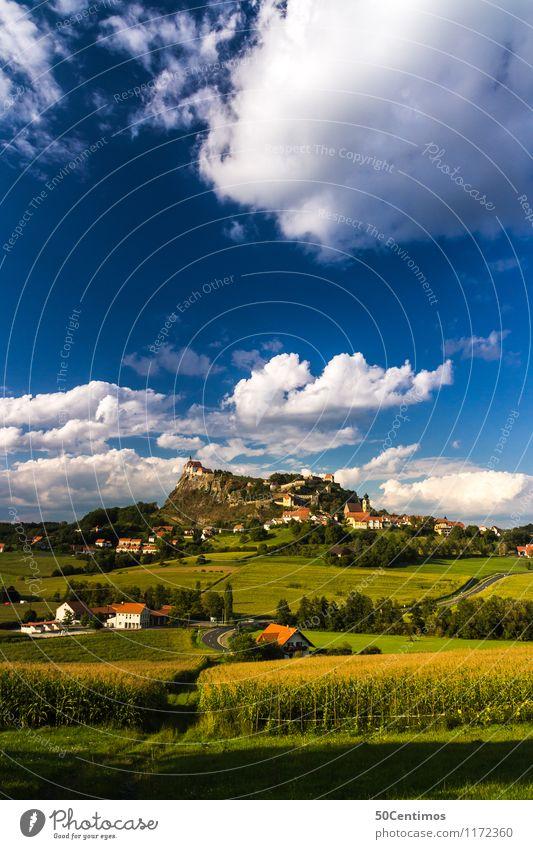 Riegersburg in Südoststeiermark Natur Ferien & Urlaub & Reisen Sommer Erholung Landschaft ruhig Wolken Haus Wald Wiese Gebäude Freiheit Feld Tourismus wandern