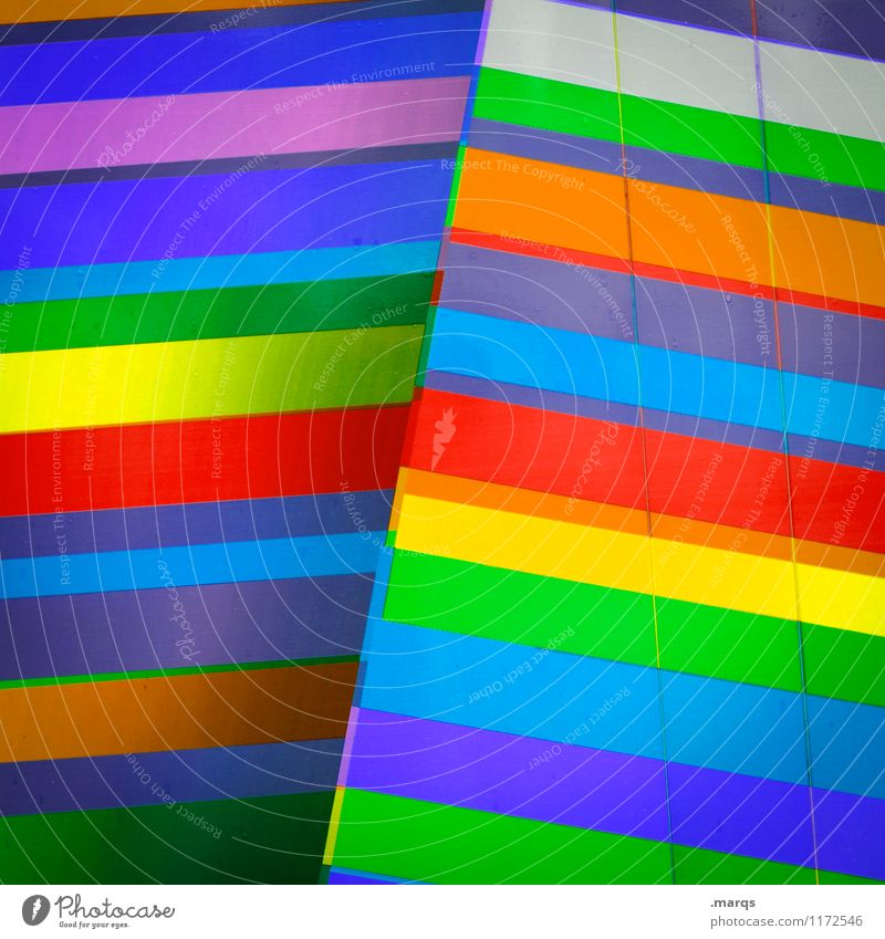 Farbfoto elegant Stil Design Linie Streifen außergewöhnlich Coolness trendy modern mehrfarbig Farbe Perspektive Nahaufnahme abstrakt Muster Menschenleer