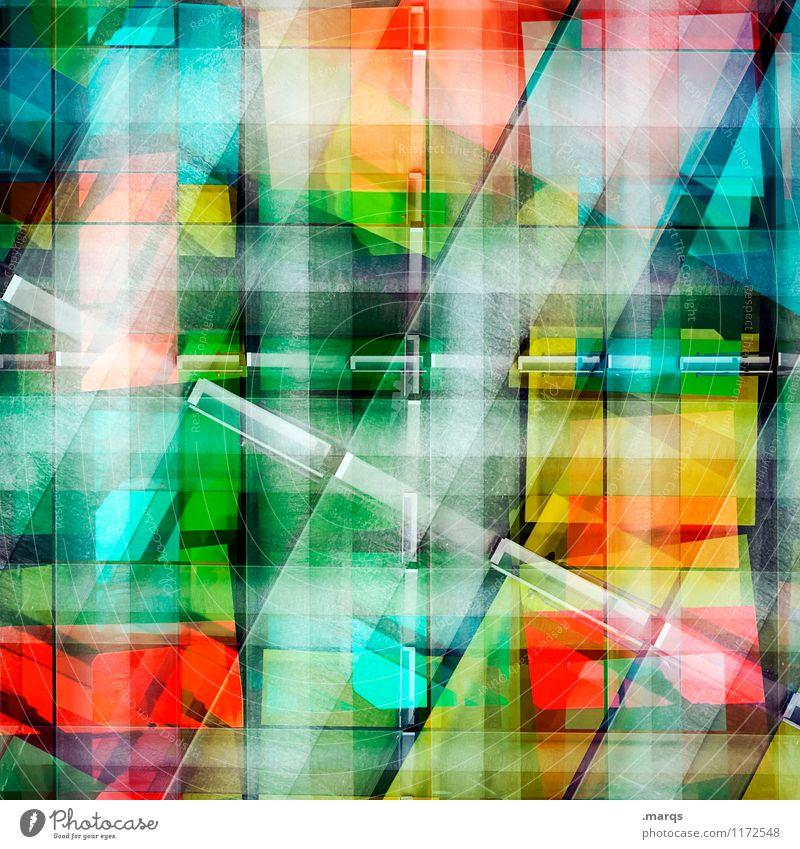Bunt gestreift Farbe Lifestyle Hintergrundbild Stil außergewöhnlich Fassade Design Linie modern elegant Ordnung ästhetisch verrückt Perspektive einzigartig