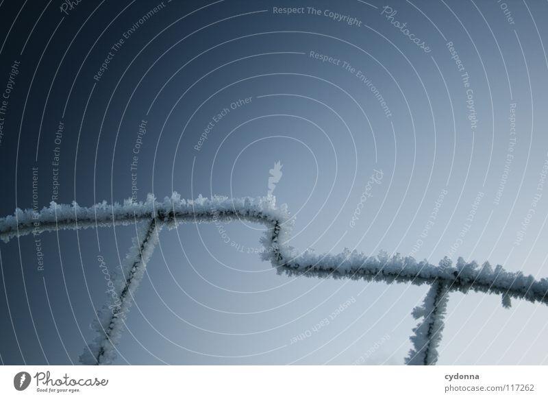EISKALT Himmel Natur weiß schön blau Winter ruhig Ferne Einsamkeit Farbe Leben kalt Schnee Stimmung Eis Frost
