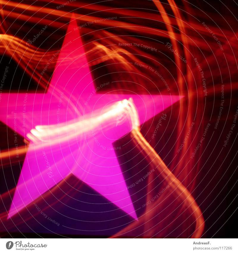 Starlight Express Stern (Symbol) Licht Leuchtspur rosa Nacht Neonlicht Leuchtreklame Symbole & Metaphern Rauschmittel Disco Alkoholisiert Techno mehrfarbig