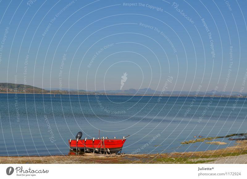 Morgenstimmung Himmel Natur Ferien & Urlaub & Reisen blau Sommer Wasser rot Landschaft Strand Frühling See Sand Deutschland Wetter Luft Erde