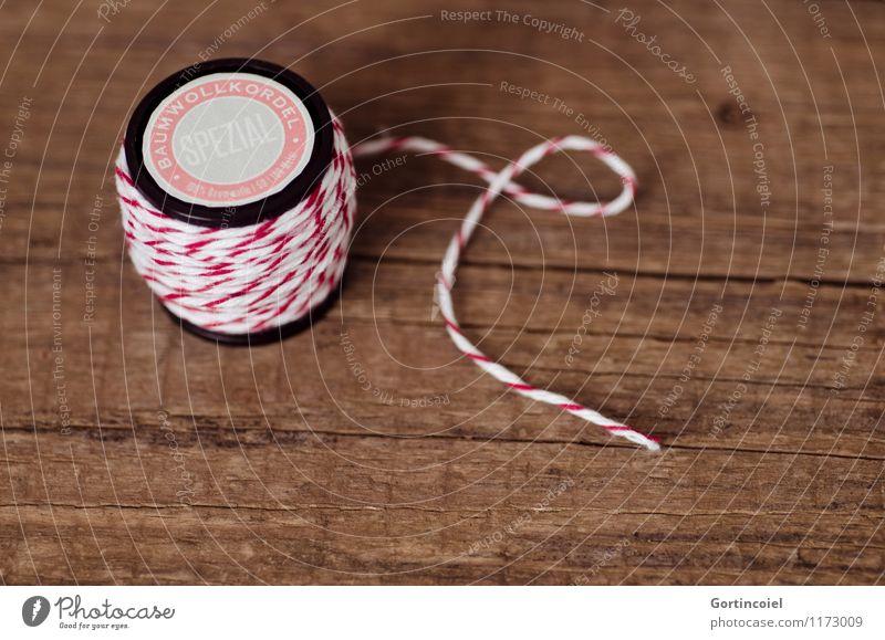 Zwirn Freizeit & Hobby Basteln Handarbeit rot weiß Holztisch Nähgarn Schnur heimwerken selbstgemacht Dekoration & Verzierung Spule Farbfoto Gedeckte Farben