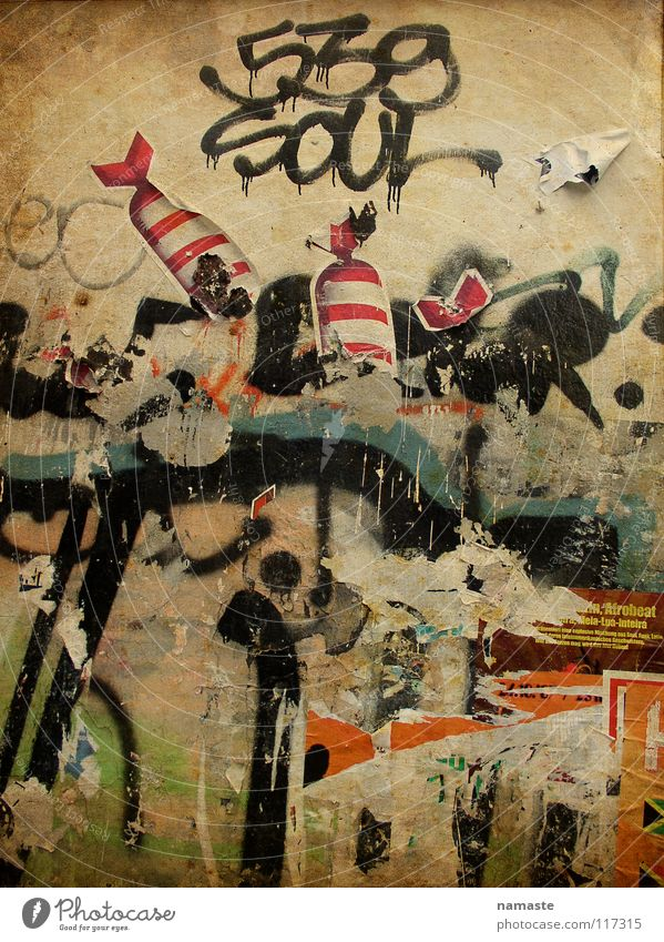 karolinenviertel 1 Haus Wand Mauer Graffiti Kunst Hamburg Grafik u. Illustration Typographie Politik & Staat Hausmauer Straßenkunst Dose Verpackung Wandmalereien Farbdose
