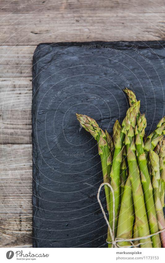 grüner spargel Lebensmittel Gemüse Spargelzeit Spargelkopf Spargelspitze Spargelernte Ernährung Lifestyle Reichtum Gesundheit Gesunde Ernährung Fitness Garten
