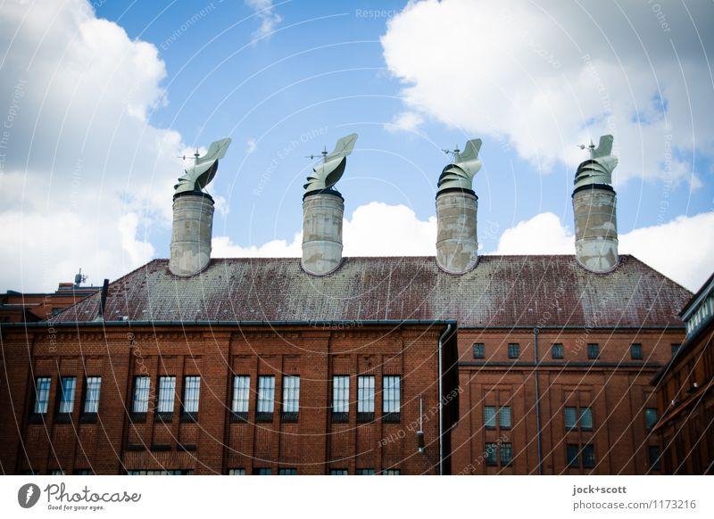 Wind für Schornsteine Kunsthandwerk Berlin-Tempelhof Fabrik Dach außergewöhnlich historisch retro Ordnungsliebe Kontrolle planen Gedeckte Farben
