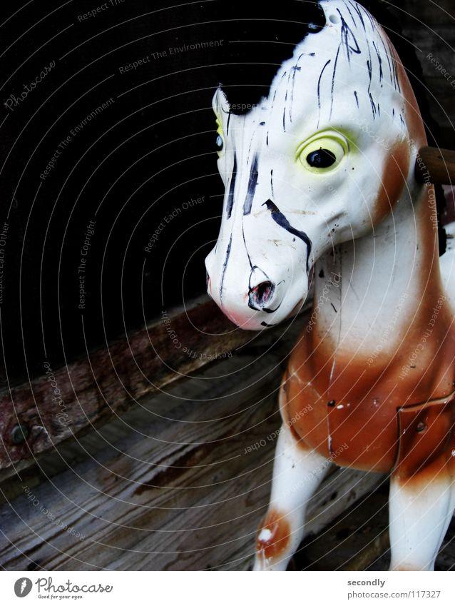 kriegspferd Auge Spielen Kindheit Pferd Vergänglichkeit streichen Spielzeug Krieg Säugetier Schaukel