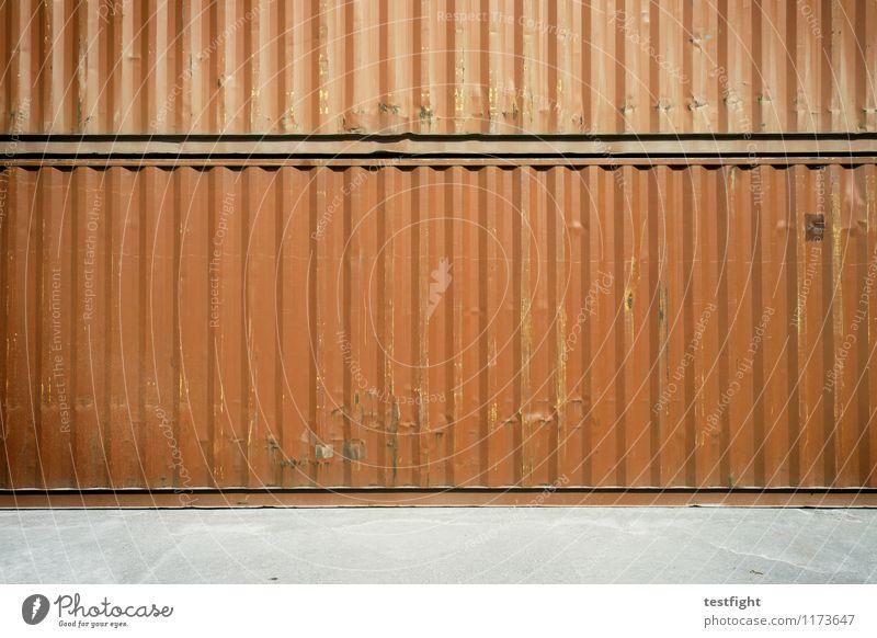 container Metall Stahl Rost Arbeit & Erwerbstätigkeit alt authentisch dreckig groß rot Güterverkehr & Logistik Container Handel Lager Ware Frachtraum Hafen