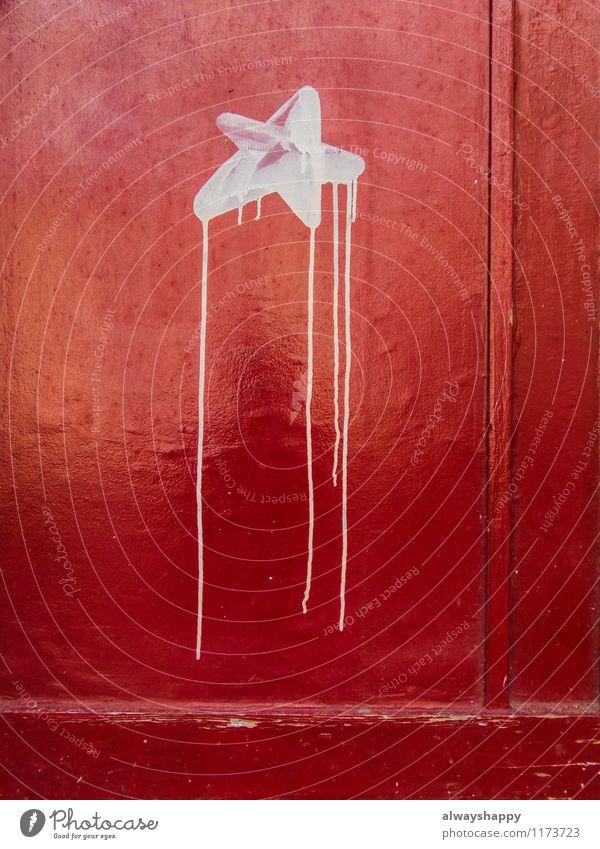Schöner Leben in Hamburg Altona - Teil 3 Stadt Tür Holz Zeichen Graffiti Aggression Farbe Freiheit rot Stern (Symbol) Farbstoff Schmiererei Straßenkunst