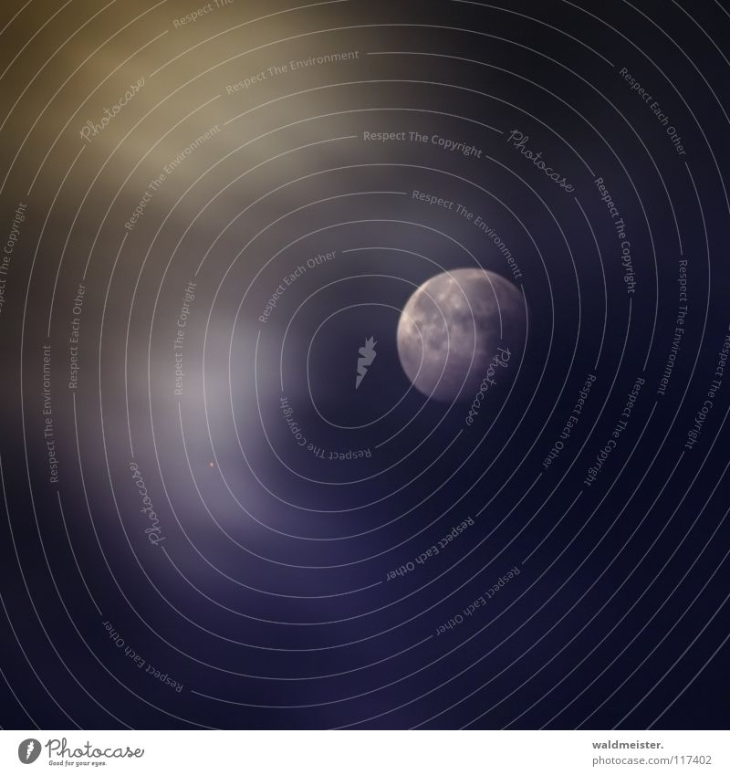 Siehst Du den Mond? abnehmend Wolken Planet Astronomie Astrologie Astrofotografie träumen Mondsüchtig Werwolf Himmelskörper & Weltall Mars Erdmond Luna lunar