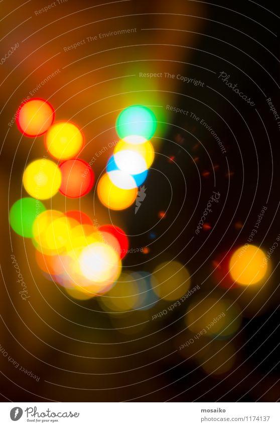 bunte Lichter Stadt Freude Gefühle Hintergrundbild Feste & Feiern Stimmung Party Geburtstag Fröhlichkeit Punkt Silvester u. Neujahr Veranstaltung Karneval
