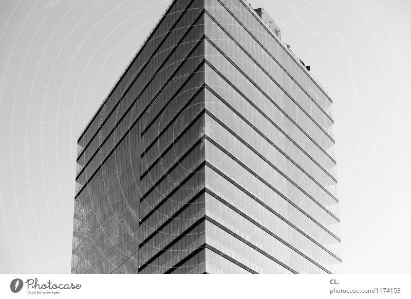 hochhaus Himmel Stadt Architektur Gebäude Fassade Hochhaus hoch Schönes Wetter Bauwerk Wolkenloser Himmel