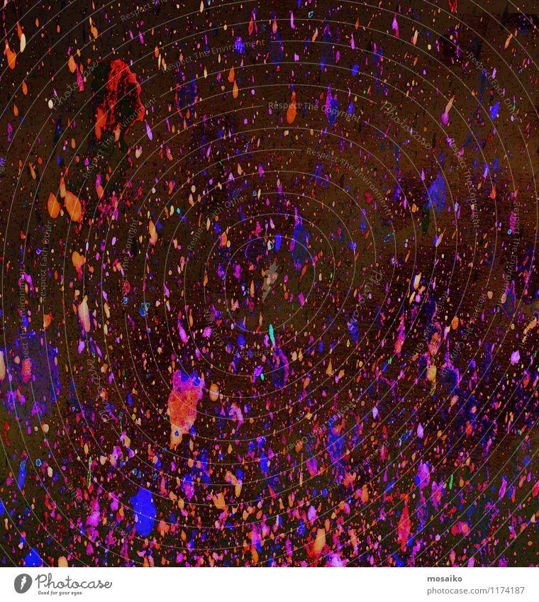 Bunte Farbspritzer Kind blau rot Freude Graffiti Gefühle Stil Feste & Feiern außergewöhnlich Stimmung Kunst Lifestyle Party träumen Design Kraft