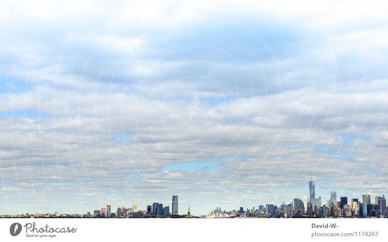 New York - so groß und doch so klein Mensch Himmel Ferien & Urlaub & Reisen Stadt Sommer Wolken Ferne Umwelt Lifestyle Business Arbeit & Erwerbstätigkeit