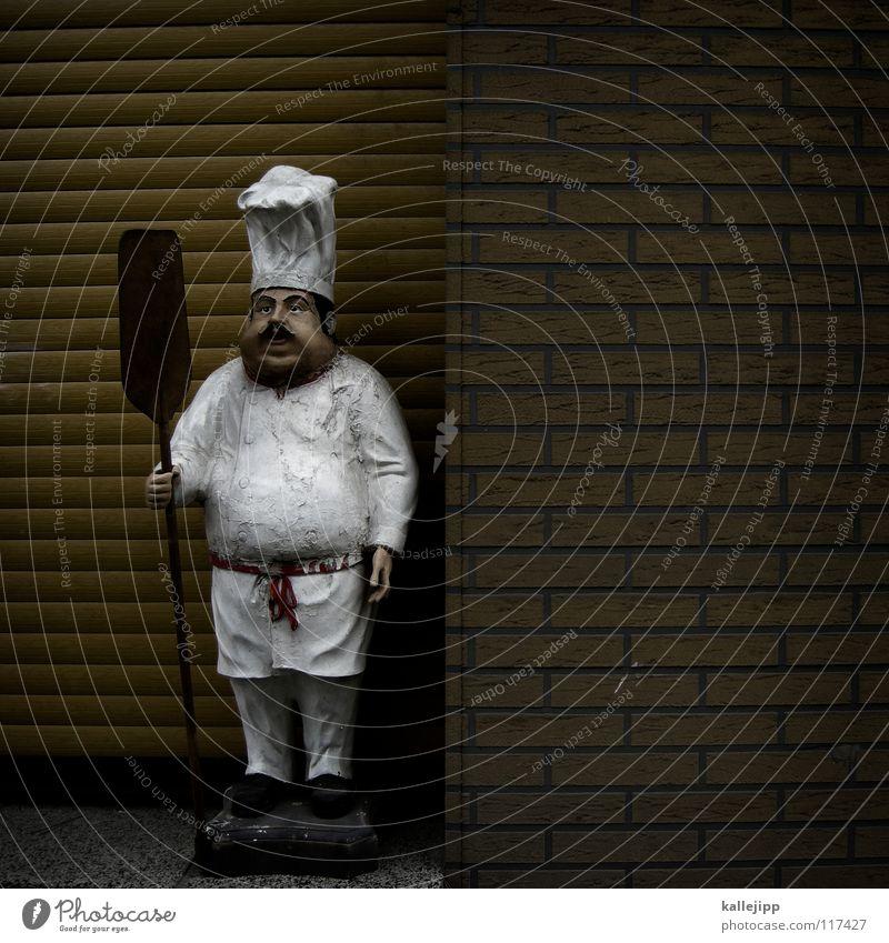 ruhetag Mann weiß Arbeit & Erwerbstätigkeit offen geschlossen Ernährung süß Kochen & Garen & Backen heiß Übergewicht Werbung Mütze Korn dick Ladengeschäft Bart