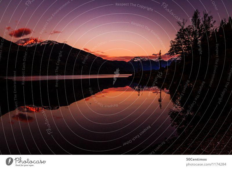Sunset in Patagonia Ferien & Urlaub & Reisen Tourismus Ausflug Abenteuer Ferne Freiheit Camping Sommer Berge u. Gebirge Umwelt Natur Landschaft Sonnenaufgang