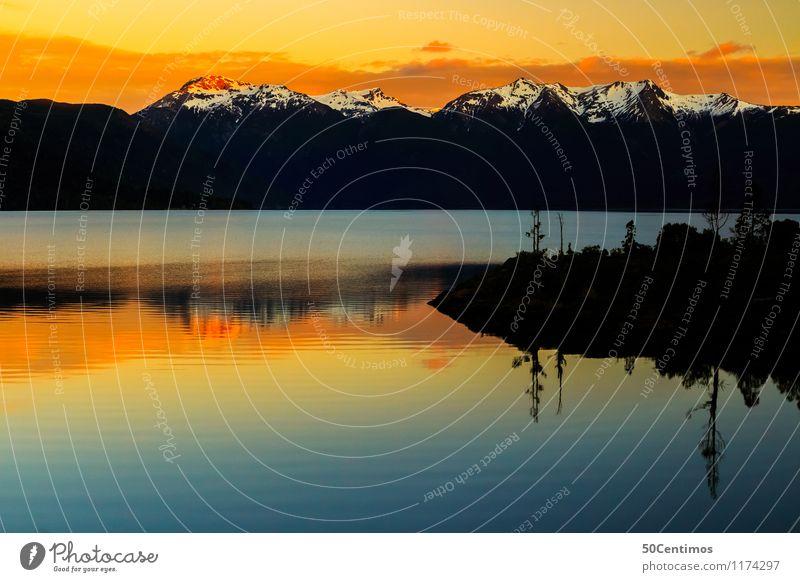 Parque Nacional Los Alerces Freizeit & Hobby Ferien & Urlaub & Reisen Tourismus Ausflug Abenteuer Ferne Berge u. Gebirge Natur Landschaft Horizont Sonnenaufgang