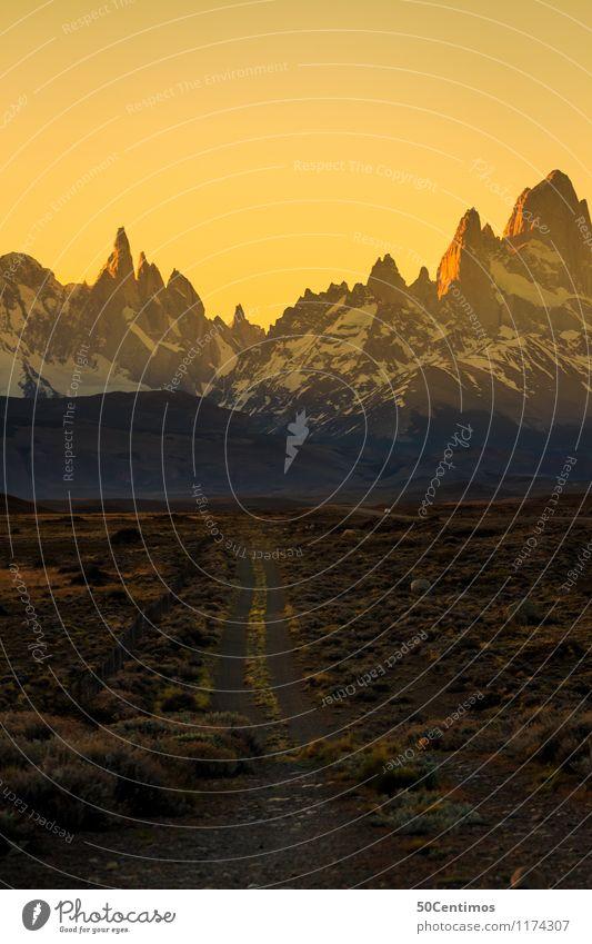 on my way to patagonia Freizeit & Hobby Ferien & Urlaub & Reisen Tourismus Ausflug Abenteuer Ferne Freiheit Winter Schnee Winterurlaub Berge u. Gebirge wandern