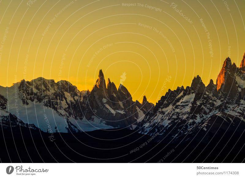 Panorama of Patagonia Ferien & Urlaub & Reisen Tourismus Ausflug Abenteuer Ferne Freiheit Winter Schnee Berge u. Gebirge Umwelt Natur Landschaft Himmel