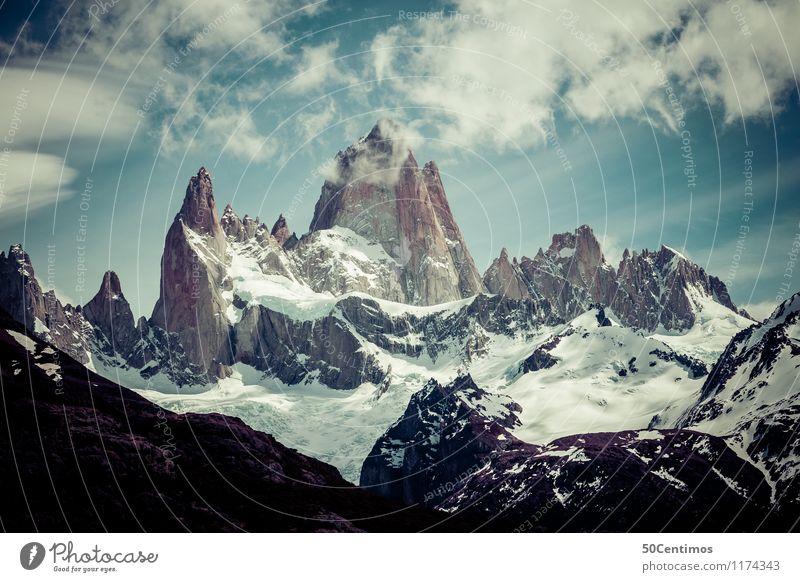 Fitz Roy Natur Ferien & Urlaub & Reisen ruhig Wolken Ferne Winter Berge u. Gebirge Schnee Freiheit Freizeit & Hobby Tourismus Ausflug Klima Spitze