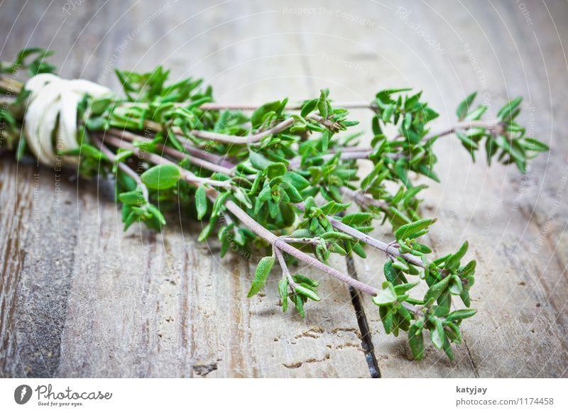 Thymian Bündel gebunden Kräuter & Gewürze Küche Geschmackssinn Pflanze aromatisch Gesunde Ernährung Küchenkräuter nah Nahaufnahme Zweig frisch Gemüse