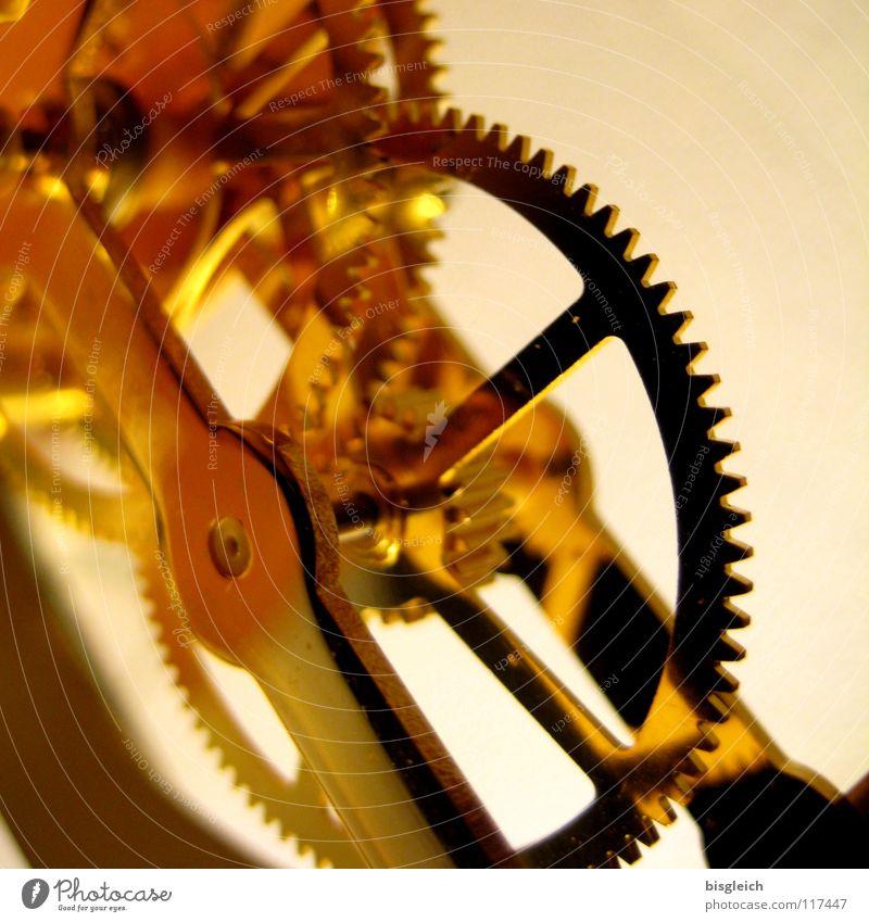 Uhrwerk II Gold gold Zeit Technik & Technologie Uhr Vergänglichkeit Zahnrad Qualität Messinstrument Uhrwerk Elektrisches Gerät