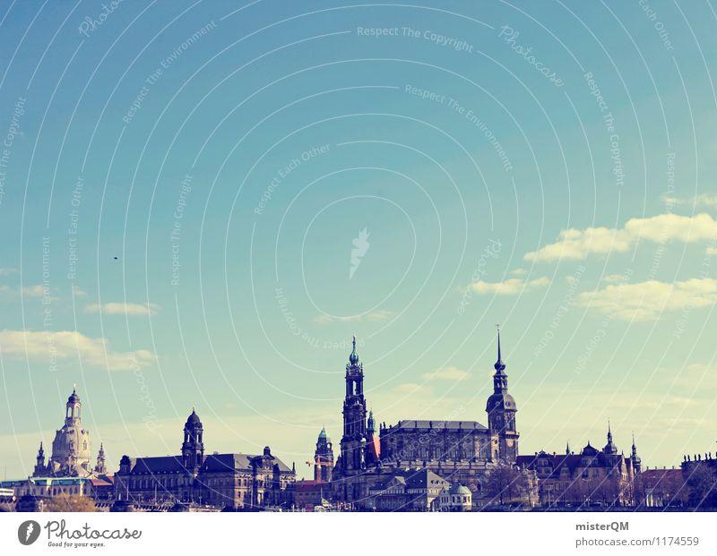 Dresden I Kunst ästhetisch historisch Skyline Altstadt Barock Frauenkirche Hofkirche Dresden