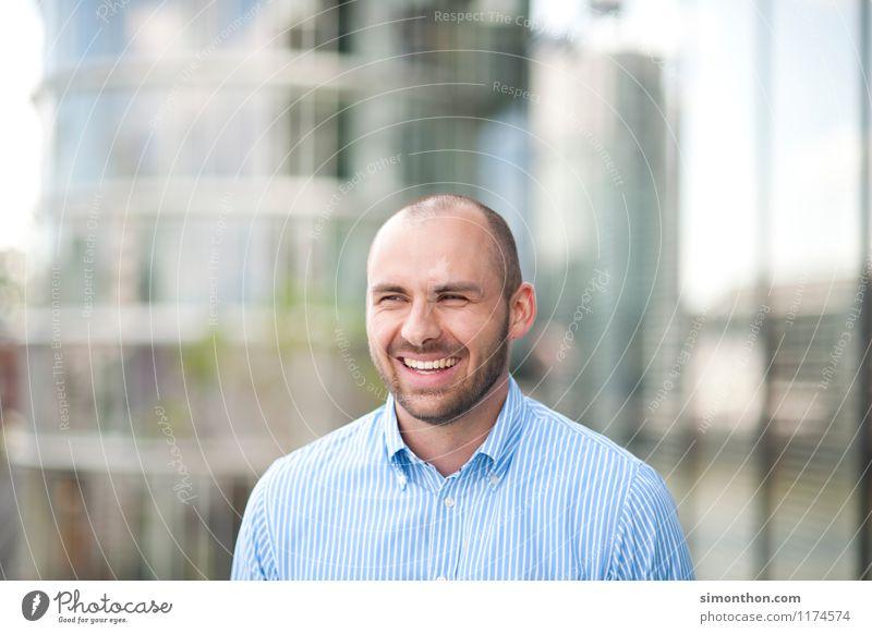 Businessportrait Mensch Mann Freude Erwachsene Gefühle sprechen Glück Lifestyle Freundschaft Arbeit & Erwerbstätigkeit Business maskulin Büro Erfolg Energie Warmherzigkeit