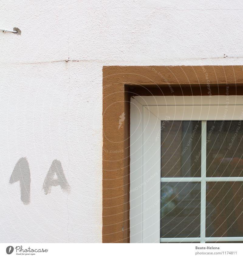 1A - Handwerkskunst Baustelle Dienstleistungsgewerbe Bohrmaschine Haus Architektur Mauer Wand Fenster Beton braun weiß Bohrloch bohren Leitung 1a Handarbeit