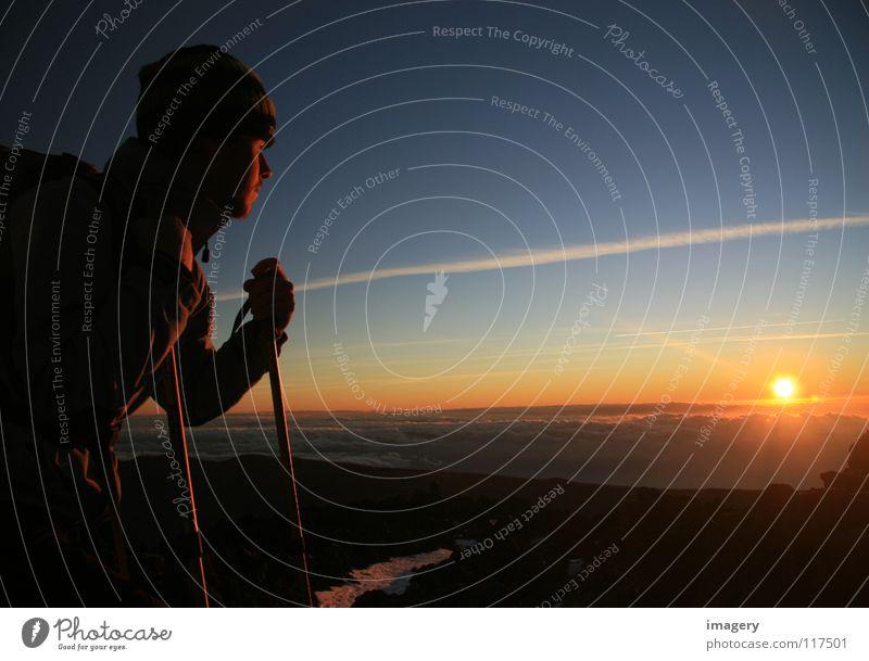 Sonnenaufgang am Teide Himmel Ferne oben Berge u. Gebirge Erfolg Bergsteigen Klettern Teneriffa