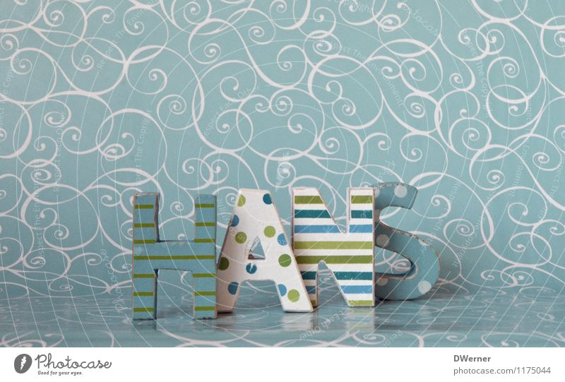 HANS schön Stil Holz Kunst Design Dekoration & Verzierung Ordnung Schilder & Markierungen stehen Schriftzeichen Hinweisschild Zeichen Kitsch Spielzeug türkis