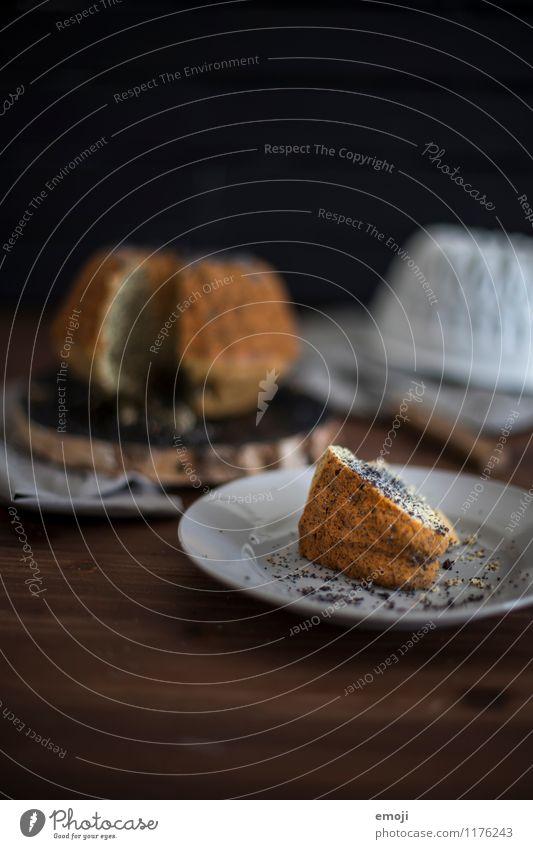Feste feiern Kuchen Dessert Süßwaren Gugelhupf Ernährung Slowfood lecker süß Farbfoto Innenaufnahme Menschenleer Textfreiraum oben Hintergrund neutral Tag
