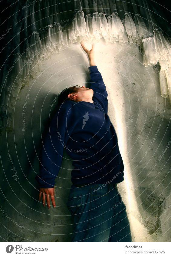 Lightcatcher Deutschland Cottbus Schichtarbeit Gardine Wand Dauerlicht Taschenlampe Licht gemalt Verfall aufstrebend dunkel Fotograf Langzeitbelichtung froodmat