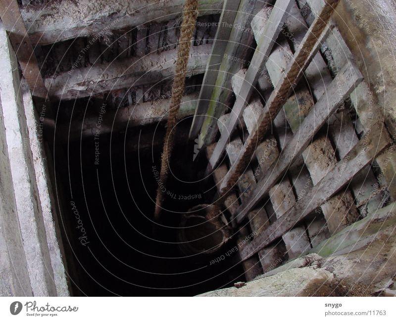 kein Brunnen Eimer Ausgrabungen Sri Lanka historisch alt Seil