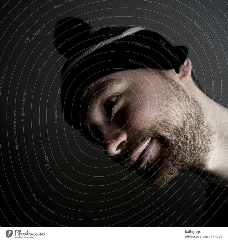 monkey business Mann Freude Auge Erholung Tod Gefühle Haare & Frisuren Denken träumen Mund Nase verrückt Coolness T-Shirt Sehnsucht Mütze