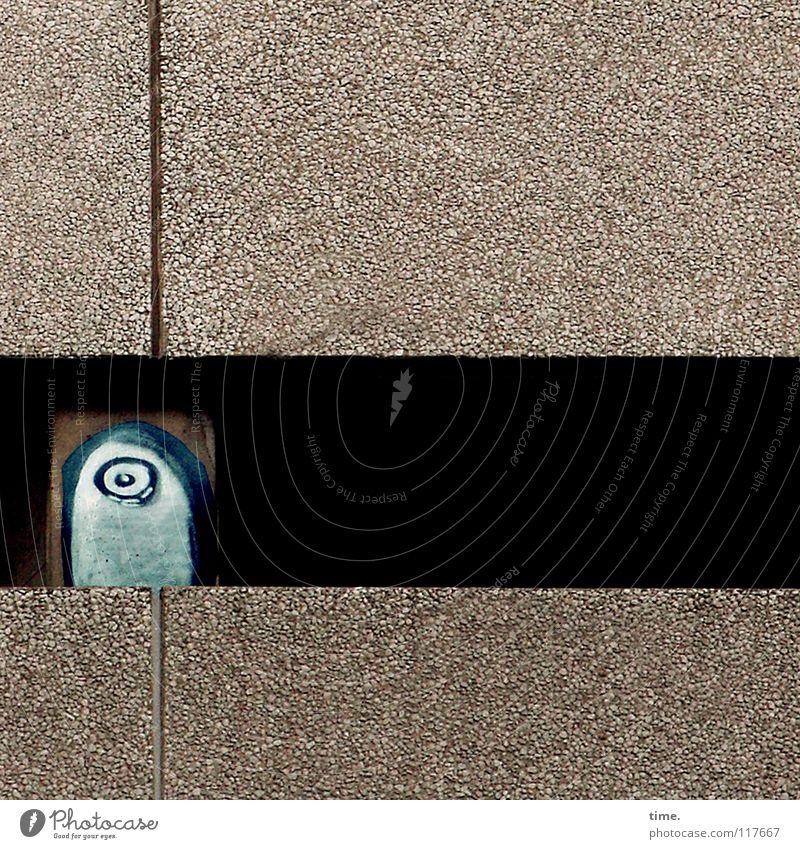House Art Kunst Gemälde Hochhaus Mauer Wand Beton Graffiti beobachten Kommunizieren blau Straßenkunst Fuge Furche Foyer wettergeschützt Kunsthandwerk verfallen