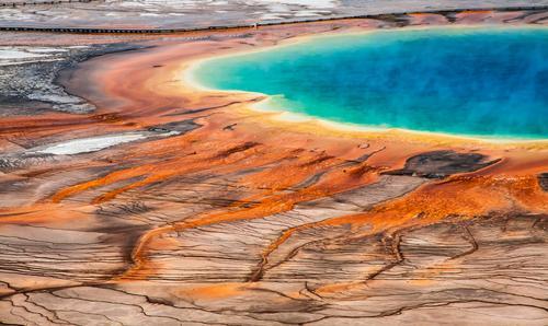 Bacterial Art Natur Ferien & Urlaub & Reisen blau Sommer Landschaft außergewöhnlich orange Tourismus Energie einzigartig Abenteuer Urelemente USA heiß