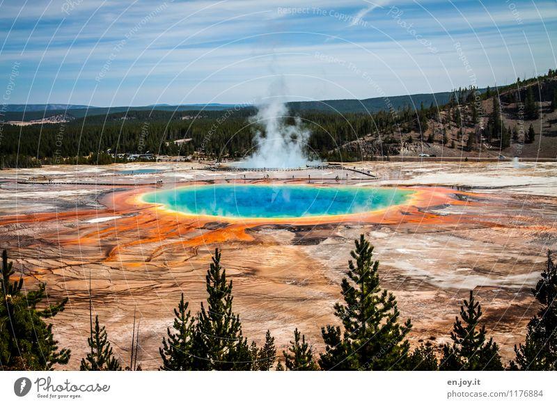 Vulkanismus Himmel Natur Ferien & Urlaub & Reisen blau Sommer Landschaft Umwelt außergewöhnlich orange Tourismus Abenteuer USA heiß Sommerurlaub Amerika