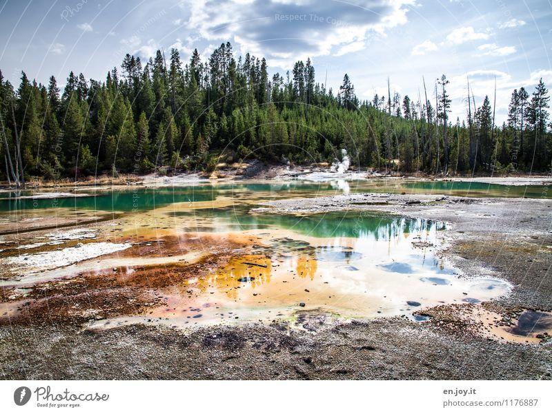 Wasserfarben Himmel Natur Ferien & Urlaub & Reisen Sommer Landschaft Wald Umwelt außergewöhnlich Tourismus Schönes Wetter Abenteuer Hügel USA Umweltschutz