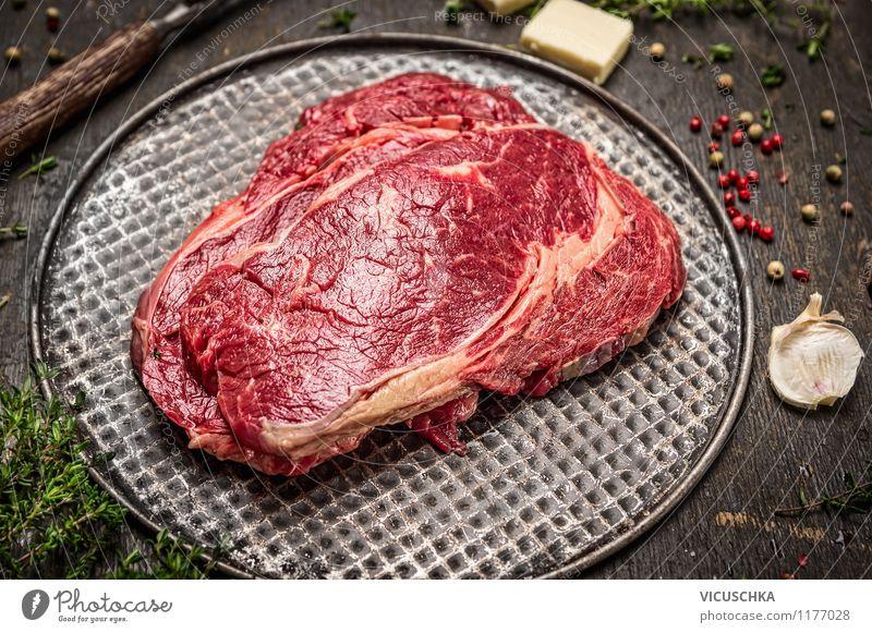 Roastbeef Steak braten Gesunde Ernährung Stil Foodfotografie Lebensmittel Stadt Essen Design Ernährung Tisch Kochen & Garen & Backen Kräuter & Gewürze Bioprodukte Fleisch Abendessen Mittagessen roh Steak